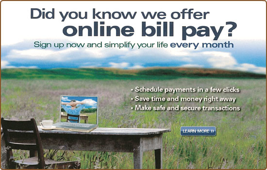 Did you know we offer online bill pay? Sign up now!